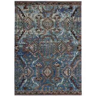 Safavieh Harmony Zoey Vintage Boho Oriental Rug (5 x 8 - Blue/Light Blue)