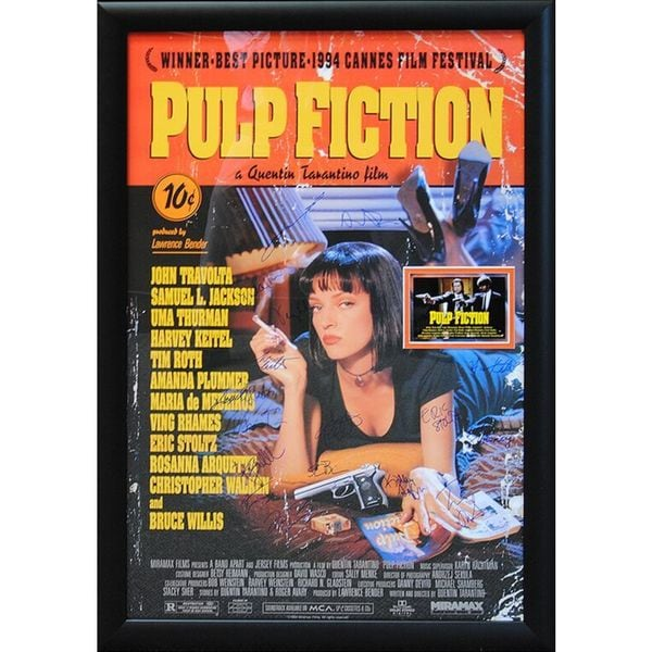 Cast-signed 'Pulp Fiction' Framed Movie Poster