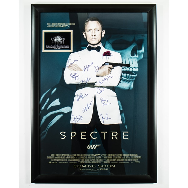Cast-signed James Bond: Spectre Movie Poster