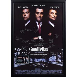 Black Wood Framed Cast-signed Goodfellas Movie Poster