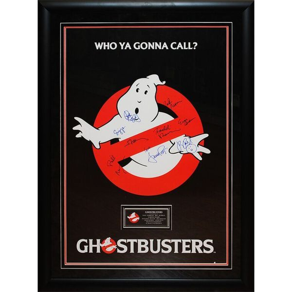 Cast Signed Authenticated Ghostbusters Movie Poster