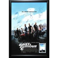 Cast-signed 'Fast & Furious 6' Movie Poster