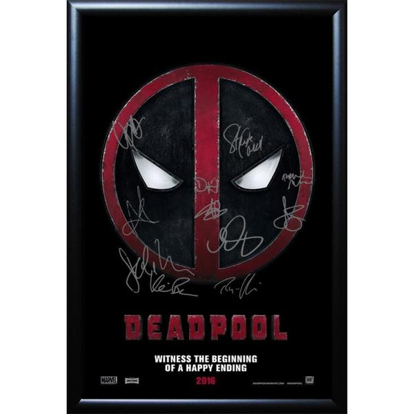 Cast-signed Deadpool Movie Poster