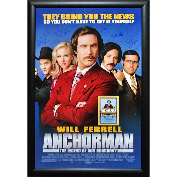 Autographed 'Anchorman: The Legend of Ron Burgundy' Movie Poster