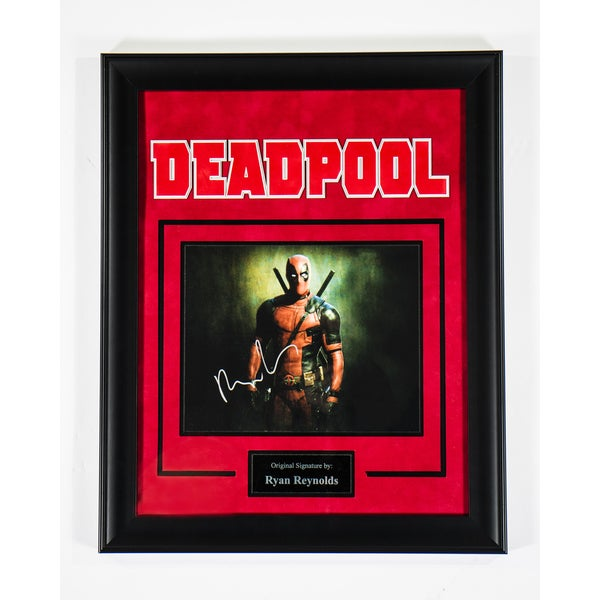 Ryan Reynolds 'Deadpool' Hand-signed Photograph