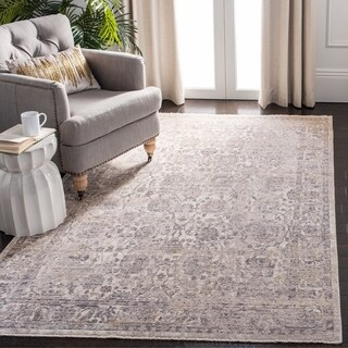 Safavieh Illusion Cream/ Brown Viscose Area Rug - 8' x 10'