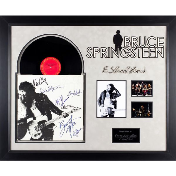Autographed Bruce Springsteen and The E Street Band 'Born to Run' Framed Collectible Album