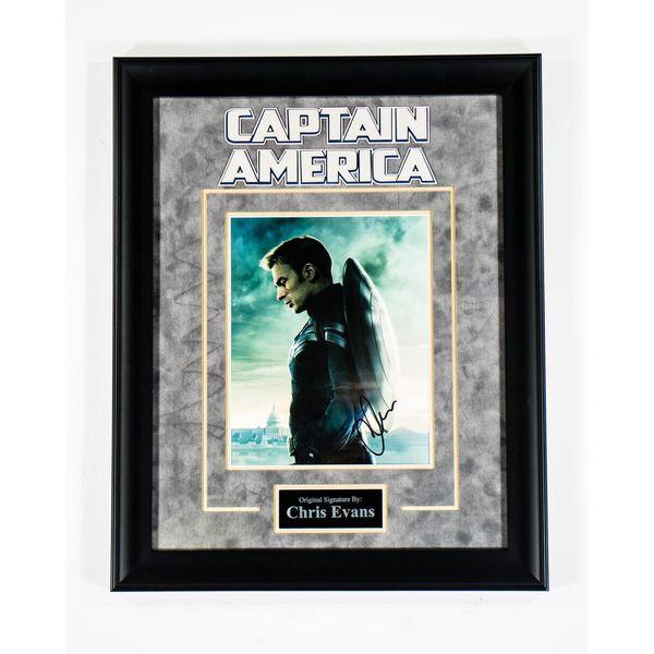Hand-signed Chris Evans 'Captain America' Photograph
