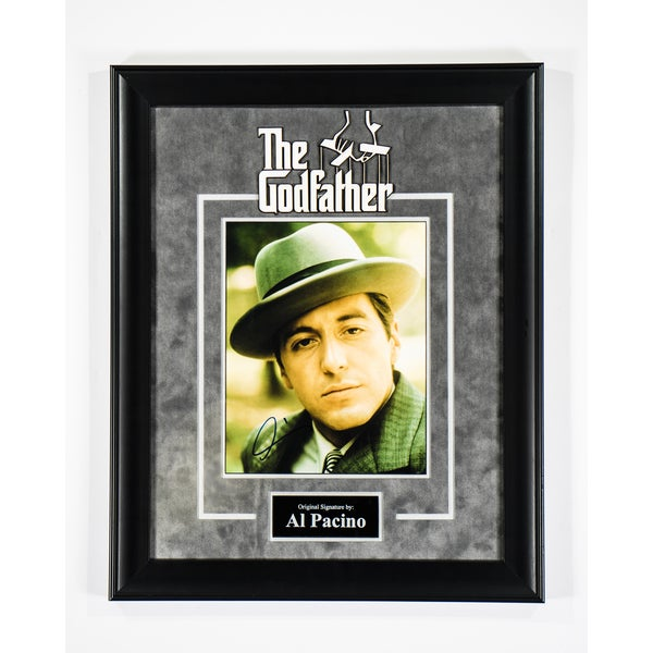 """Hand-signed Al Pacino """"The Godfather"""" photograph"""