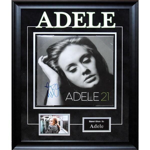 Adele '21' Artist Signed Framed Album Cover