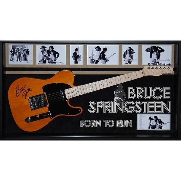 Bruce Springsteen 'Born to Run' Hand-signed Wood-framed Guitar