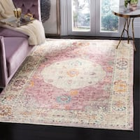 Safavieh Illusion Pink/ Cream Viscose Area Rug - 8' x 10'