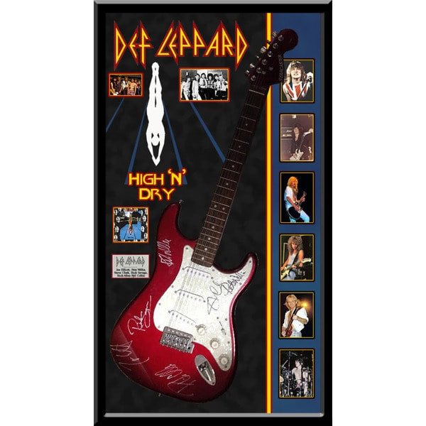 Hand-signed Def Leppard 'High & Dry' Guitar