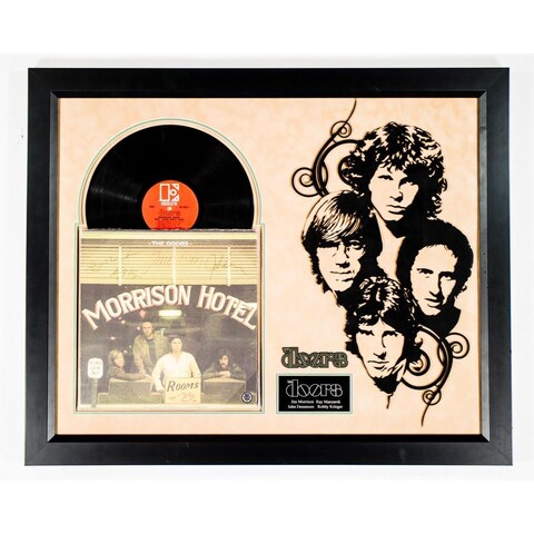 Hand-signed The Doors 'Morrison Hotel' Custom Wood-framed Album