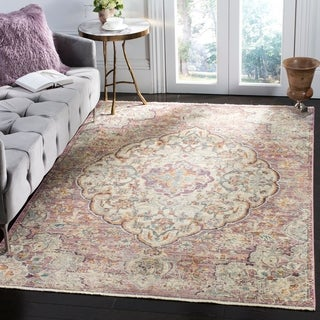 Safavieh Illusion Cream/ Pink Viscose Area Rug (8' x 10')