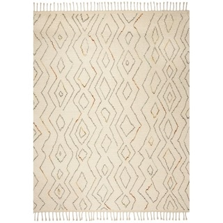 Safavieh Kenya Hand-Knotted Ivory/ Multi Wool Area Rug (9' x 12')