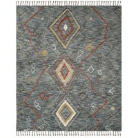 Safavieh Kenya Hand-Knotted Grey/ Multi Wool Area Rug (8' x 10')