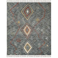 Safavieh Kenya Hand-Knotted Grey/ Multi Wool Area Rug - 9' x 12'