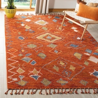 Safavieh Kenya Hand-Knotted Red/ Multi Wool Area Rug (8' x 10')