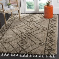 Safavieh Morrocan Fringe Shag Brown/ Grey Area Rug - 8' x 10'
