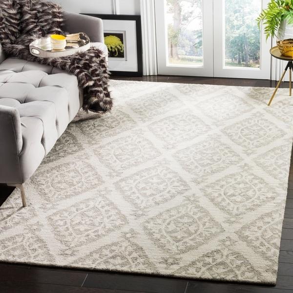 Loop Light Grey Bath Rug Reviews: Shop Safavieh Micro-Loop Hand-Tufted Grey Wool Area Rug