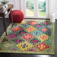 Safavieh Monaco Vintage Bohemian Green/ Multi Distressed Rug - 8' x 10'