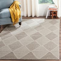 Safavieh Montauk Hand-Woven Grey Cotton Area Rug (9' x 12')