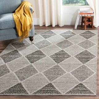 Safavieh Montauk Hand-Woven Black Cotton Area Rug (9' x 12')