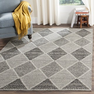 Safavieh Montauk Hand-Woven Black Cotton Area Rug (10' x 14')