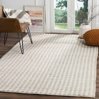 Safavieh Natura Hand-Tufted Grey/ Ivory Silk Area Rug - 8' x 10'
