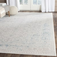 Safavieh Passion Watercolor Vintage Turquoise/ Ivory Distressed Rug - 10' x 14'