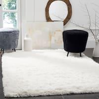 Safavieh Polar Shag White Polyester Area Rug - 10' x 14'