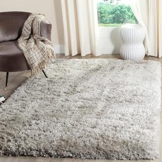 Safavieh Polar Shag Silver Polyester Area Rug (10' x 14')