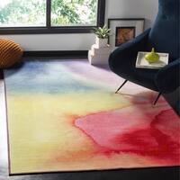 Safavieh Paint Brush Pink/ Yellow Area Rug - 8' x 10'