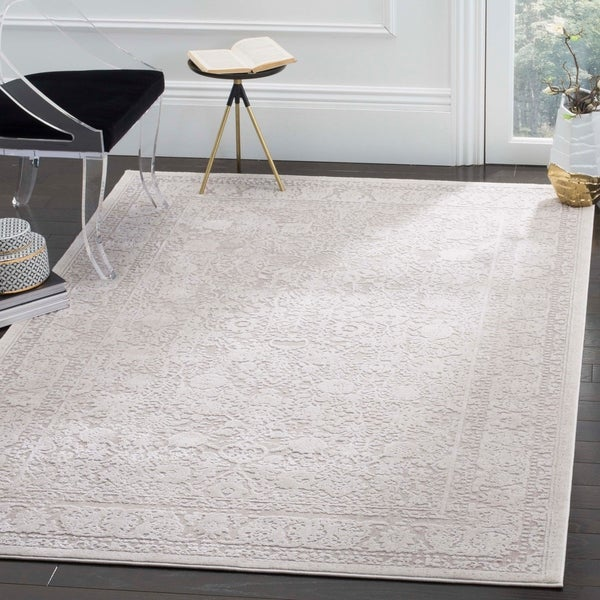 Shop Safavieh Reflection Beige Cream Polyester Area Rug
