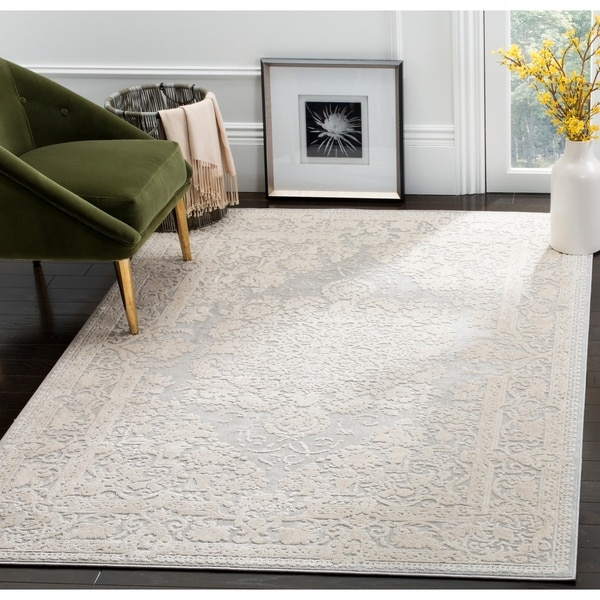 Shop Safavieh Reflection Grey Cream Polyester Area Rug
