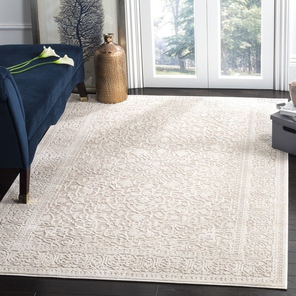 Safavieh Reflection Beige Cream Polyester Area Rug 8 X27