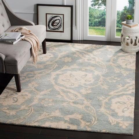Safavieh Roslyn Hand-Tufted Blue/ Ivory Wool Area Rug - 8' x 10'