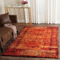 Safavieh Vintage Hamadan Overdyed Orange Distressed Area Rug - 9' x 12'