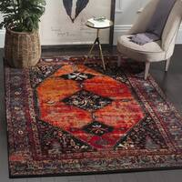 Safavieh Vintage Hamadan Traditional Orange/ Multi Distressed Area Rug - 10'6 x 14'