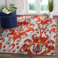 Safavieh Watercolor Red/ Blue Area Rug (8' x 10')
