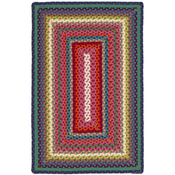 Safavieh Braided Contemporary Hand-Woven Multi Accent Area Rug - 2'6 x 4'