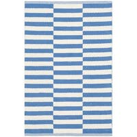 Safavieh Montauk Hand-Woven Ivory/ Blue Cotton Accent Area Rug - 2'6 x 4'