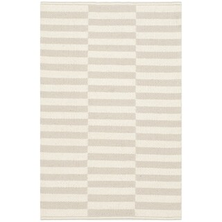 Safavieh Montauk Hand-Woven Ivory/ Grey Cotton Accent Area Rug (2' 6 x 4')
