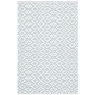 Safavieh Montauk Hand-Woven Ivory/ Blue Cotton Accent Area Rug (2' 6 x 4')
