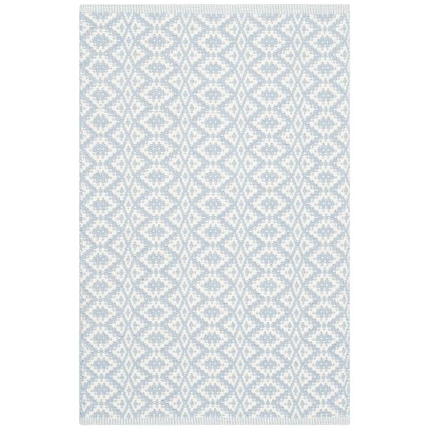 Safavieh Montauk Hand-Woven Ivory/ Blue Cotton Accent Area Rug (2' 6 x 4')