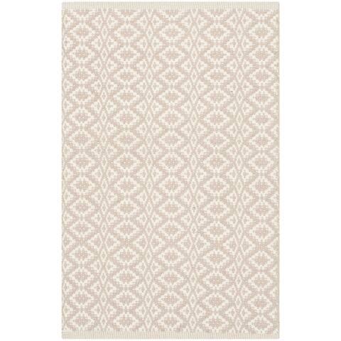 "Safavieh Hand-Woven Montauk Everly Flatweave Ivory / Beige Cotton Rug - 2'6"" x 4'"