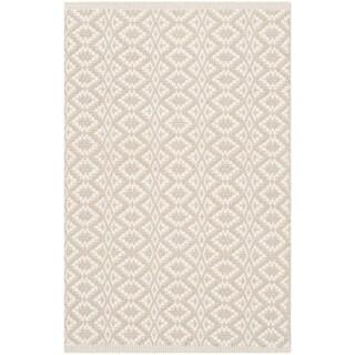 Safavieh Montauk Hand-Woven Ivory/ Beige Cotton Accent Area Rug (2' 6 x 4')