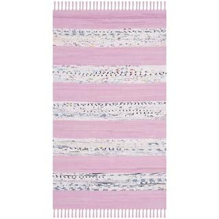 Safavieh Montauk Hand-Woven Ivory/ Pink Cotton Accent Area Rug (2' 6 x 4')