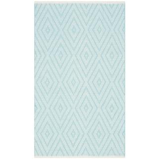 Safavieh Montauk Hand-Woven Blue/ Ivory Cotton Accent Area Rug (2' 6 x 4')